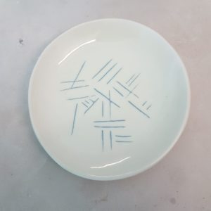 Jade Snell Ceramic etched Plate