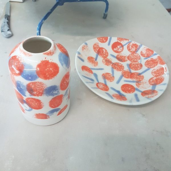 Carafe and Plate
